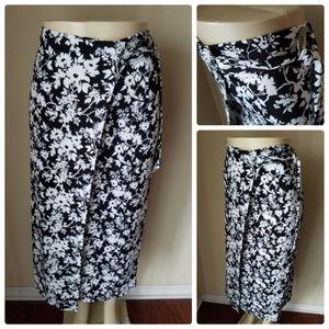 Liz Claiborne Floral Wrap Maxi Skirt